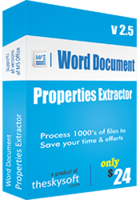 Word Document Properties Extractor Coupon 15%