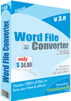 Word File Converter Batch Coupon 15% OFF
