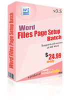 Window India – Word File Page Setup Batch Coupon Discount