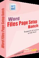 Word File Page Setup Batch Coupon