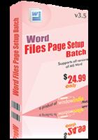 Word File Page Setup Batch Coupon Code