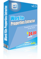 Word File Properties Extractor Coupon
