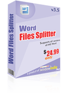 Word Files Splitter Coupon Code