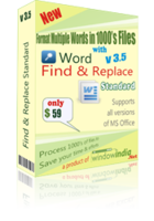 Word Find and Replace Standard Coupon Code 15% Off