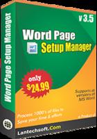 Word Page Setup Manager Coupon