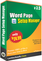 Word Page Setup Manager – Exclusive Discount