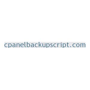 cPanel Backup Script
